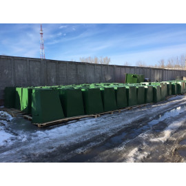 Контейнер для мусора (ТБО) металл 2мм, V=0.75 m3