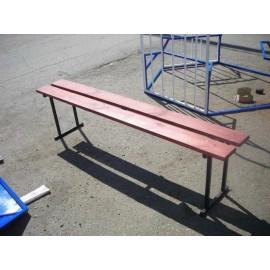 Скамейка уличная без спинки (лавка) вкапываемая