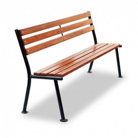 Скамейка со спинкой вкапываемая - Уютная